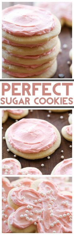 Perfect Sugar Cookies... These really are perfect! Both soft and crisp and the the flavor is wonderful! Paired with an incredible frosting, this will quickly become your go-to sugar cookie recipe!:
