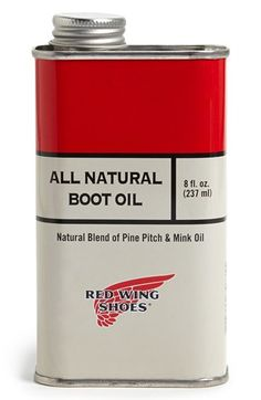 Red Wing 'All Natural Model No. 95132' Boot Oil available at #Nordstrom