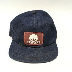 3371f3e6 Vtg Denim Snapback Patch Hat Trucker Cotton Texas Farmer Baseball Cap USA  Union #Unbranded #
