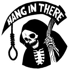 Dark Humor right. This is Illustrated by Becky Cloonan Tattoo Drawings, Art Drawings, Reaper Drawing, Emo Wallpaper, Reaper Tattoo, Arte Obscura, Skeleton Art, Skull Art, Skull Logo