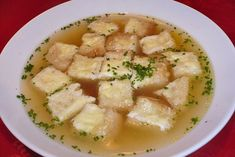 Käsecroutons - Rezept Tasty, Yummy Food, Potato Salad, Potatoes, Cooking, Ethnic Recipes, Soups And Stews, Healthy Recipes, Onion Soup Recipes
