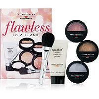 Laura Geller Beauty - Flawless In A Flash. Flawless in a Flash features travel sized skin-perfecting products to get your gorgeous on the go.