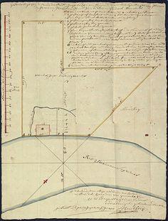 Opmeting van de plantage Jagtlust in Suriname, 1738
