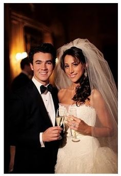 Kevin & Danielle Jonas wedding! Kevin is one lucky man. She seems to be a sweet and beautiful lady!