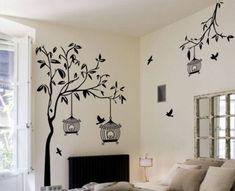 Wall Painting For Hall, Simple Wall Paintings, Wall Painting Decor, Home Wall Decor, Diy Wall Art, Wall Art Designs, Paint Designs, Wall Design, Nursery Wall Decals