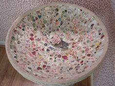 <3 my mosaic bird bath, by m.k. pickle