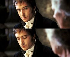 """Matthew Macfadyen     """"Judi Dench, I adored watching.I wassitting there, at that dinner table in Rossings, and think: this is great!"""" (Matthew Macfadyen) pride and predjudice, mr darcy,"""
