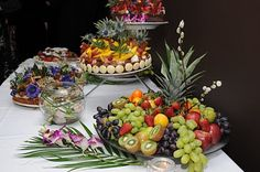 if we decide to a dessert wedding we can do a few fruit trays (maybe get from walmart...aka already cut up...and display ourselves)