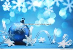 blue merry christmas and happy new year 2015 wallpaper Wallpaper