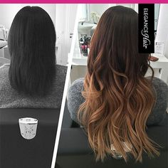 Beautiful Ombré Bonding Extensions made by Elegance-Hair! <3