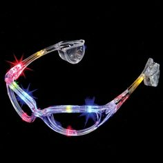 f94c09fa81 Sunglasses with 4 different multi colored lights and changing patterns.  Press button to activate each
