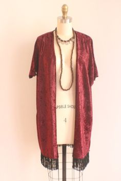 Kimono: Red Crushed Velvet