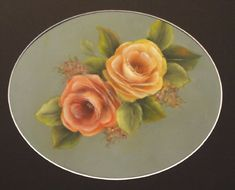 Painting Roses in Acrylic. -  [Looks like Priscilla Hauser Roses!] A