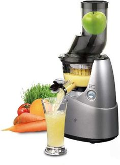 Create a rich, full-bodied juice with the Whole Slow Juicee from Kuvings. This powerful juicers comes with specialized strainers for making frozen fruit sorbet, smoothies and baby puree. Frozen Fruit, Fresh Fruit, Carrot Juice Benefits, Mixer, Juicer Reviews, Fruit Sorbet, Centrifugal Juicer, Jus Detox, Cold Press Juicer