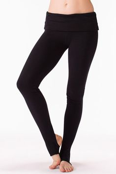 Barre Legging with Footholes in Jersey | Solow Sport