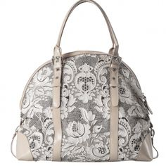 """Bag realised with a luxurious lace. This """"Dentelle"""" lace"""