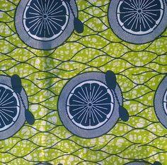 African wax print fabric (lime Green, Blue fruit bowl) #african #wax #print #fabric