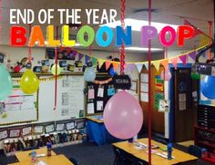 End the year with a fun balloon pop COUNTDOWN! Pop a balloon each day to reveal a fun treat for your class!