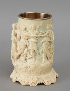 The Saleroom, Central Europe, Les Oeuvres, Sculpture Art, 19th Century, Candle Holders, Objects, Auction, Ivory