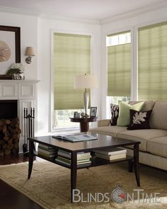 Levolor Honeycomb | #blindsontime.com #blinds #home  {I love the look of this room.}