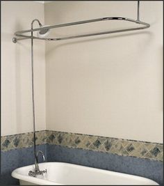 Charmant Includes: ~ Solid Brass Riser ~ Add On Shower Gooseneck Diverter Faucet  Package ~ 6 Porcelain Sunflower Shower Head ~ 3 Center Faucet With 3  Porcelain ...