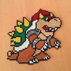 Bowser Mario perler beads by rasmusl91