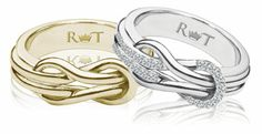 With This Ring, I Send a Message | Equally Wed - A gay and lesbian wedding magazine.....love the silver.
