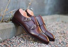 http://chicerman.com  skolyx:  New in stock! Our double monks is now available on this mixed brown hand finish called testa de moro (similar to museum calf). We ship world wide and deduct vat on all orders outside EU. Model..Double monks (stock model available for delivery in 1-3 days) Last..915. Sole..Leather. Color.Hand finished brown (testa de moro). BrandYanko Price..2595 sek (2076 ex vat) #skolyx #shoecare #menswear #mensshoes #classicshoes #shoeporn #shoestyle #mensfashion #mensstyle…