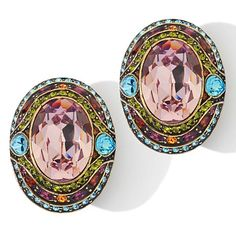 "Heidi Daus ""Shirli Stunning"" Oval Earrings"