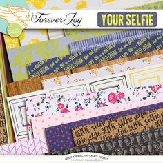 Digital Scrapbooking Kit - SELFIE Papers | ForeverJoy Designs