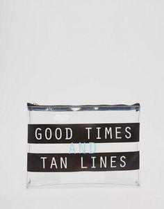 ASOS Good Times And Tan Lines Zip Top Bikini Bag