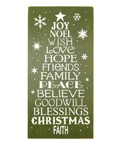Love this Christmas Tree Wall Art on #zulily! #zulilyfinds
