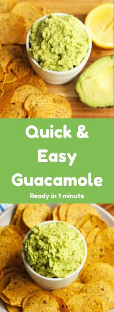 Quick and Easy Guacamole - Ready in 1 minute and can be used in so many ways! #guacamole #dips #recipes