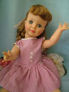 "Vtg Ideal 1960 Pretty Pattite Petite Patti Playpal 18"" Doll"