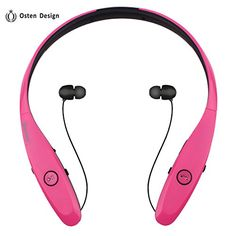Special Offers - Bluetooth Headphone Osten Design Wireless Headset with Mic Stereo Neckband Noise Cancelling Headset Hand-free Sports Earphone Retractable Earbuds for Iphone and Other Bluetooth Devices (900S Red) - In stock & Free Shipping. You can save more money! Check It (July 26 2016 at 03:46PM) >> http://ift.tt/2aajnj2
