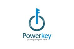 Power Key Logo Template by gunaonedesign on Creative Market