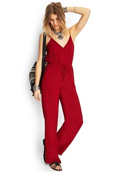 Wide-Leg Surplice Jumpsuit | FOREVER21 #SummerForever