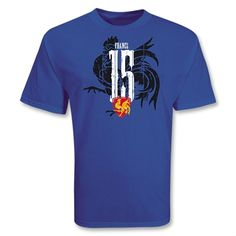 France 15 Distressed Rugby T-Shirt (Royal)