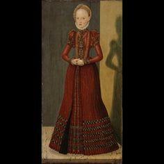 CRANACH DIGITAL ARCHIVE.  Elisabeth Duchess of Saxony as a Child.  Cranach the Younger 1564