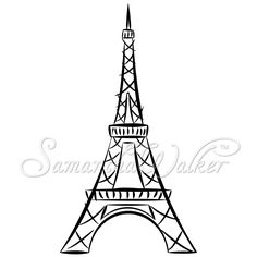 how to draw a simple eiffel tower step by step
