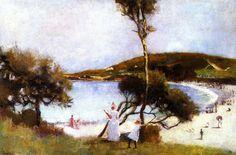 Charles Conder - Coogee Bay. 1888. Oil on cardboard.