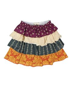 Loving this Jewel-Tone Thankful Hearts Skirt - Infant, Toddler & Girls on #zulily! #zulilyfinds