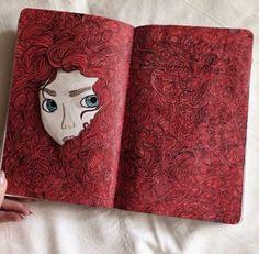 Imagem de art, wreck this journal, and WTJ - abstrakte malerei - Kunstjournal Inspiration, Art Journal Inspiration, Art Inspo, Journal Ideas, Disney Kunst, Disney Art, Disney Magic, Doodle Art, Art Sketches