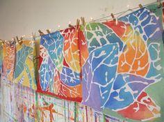 Fall Leaf Batik Tutorial - Kids Art Classes, Camps, Parties and Events - Small Hands Big Art Art Education Lessons, Art Lessons Elementary, Kids Art Class, Art For Kids, Fall Art Projects, 5th Grade Art, Batik Art, Ecole Art, Autumn Art