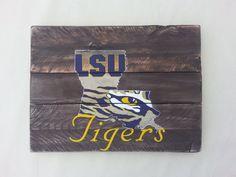 LSU Tiger Eye Pallet Art or Pallet Sign Original by LouandElle, $75.00