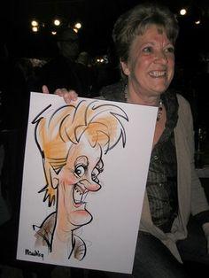 Marion's blog, ipad karikaturist, karikatuur, cartoon, workshop, tekenaar: Live caricatures