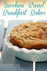 Healthy Zucchini Bread Breakfast Bakes - Low Fat, Gluten Free, Clean Eating Recipe