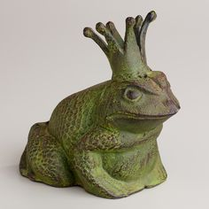 Cast Iron Frog Decor from Cost Plus World Market. I couldn't resist him and have him sitting on my desk Outdoor Wicker Furniture, Door Stopper, Cast Iron Cooking, Frog And Toad, Iron Doors, World Market, Door Knockers, It Cast, Etsy Shop