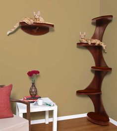 Decorative Furniture for Cat Lovers – Cat Tower and Shelf - Cats - Shelf