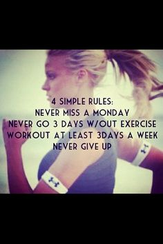 This resonated with me today....never miss a Monday. I wanted to skip the gym, but didn't.